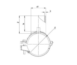 Патрубок-накладка Ø63 x 32 мм ПЭ100 SDR 11